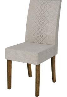 Cadeira Olímpia 2 Peças - Demolição Com Pena Bege
