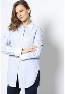 11ab51ea0 Camisa Mia Listrada - Azul Claro & Brancole Lis Blanc