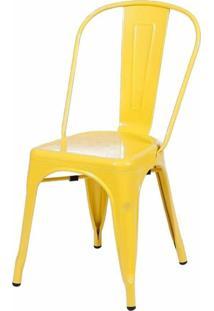 Cadeira Tolix Xavier Pauchard Em Aço Amarela