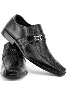 Sapato Social Topflex Masculino 700 - Masculino-Preto