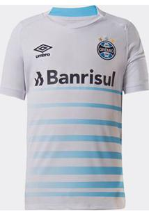 Camisa Umbro Grêmio 2021 Ii Sem Número Branca Infantil