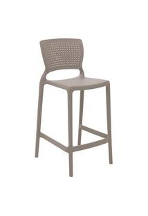 Cadeira Alta Tramontina 92128210 Safira Polipropileno Fibra De Vidro Camurça