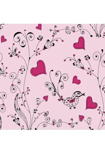 Papel De Parede De Corações- Pink & Rosa Claro- 300Xjmi Decor