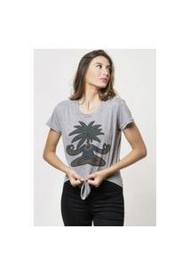 Camiseta Jay Jay Basica Zen Coconuts Cinza Mescla Dtg