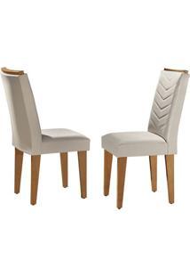 Cadeira Londrina Veludo Creme Imbuia