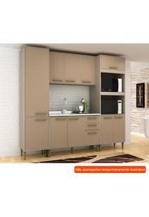 Cozinha Compacta Vitória 10 Pt 3 Gv Capuccino E Creme