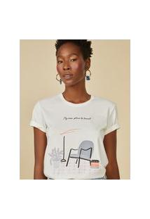 Amaro Feminino T-Shirt New Place To Travel, Off-White