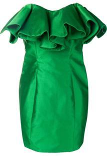 Attico Vestido Com Bustier Estruturado - Verde