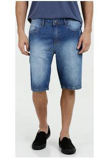 Bermuda Masculina Jeans Manchada Marisa
