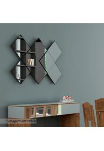 Painel Decorativo Losango- Preto Brilho- 85X127X5,8Cdalla Costa