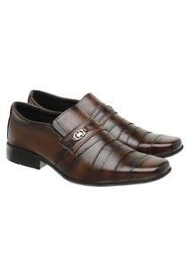 Sapato Social Masculino Couro Clássico Confortável Elegante Café 45 Café