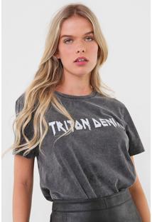 Camiseta Triton Lettering Grafite