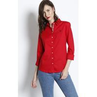 f905417e8c1 Camisa Lisa Com Bordado - Vermelhaus Polo