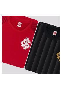 Kit De 2 Camisas Internacional Winner Preta E Vermelha