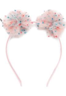 Maison Michel Pompom Headband - Rosa