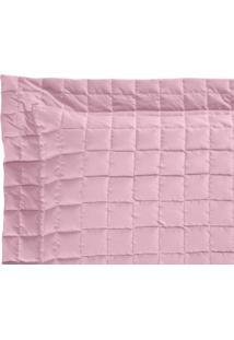 Porta Travesseiro Top Line 180 Fios Confortável Macio Rose