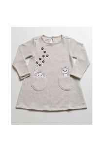 Vestido Infantil Estampa Marie Manga Longa Disney