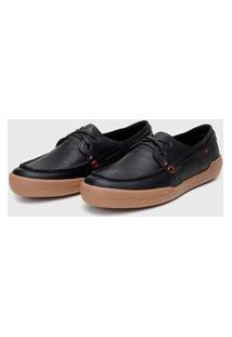 Sapato Em Couro Hayabusa Z 20 Preto Solado Âmbar