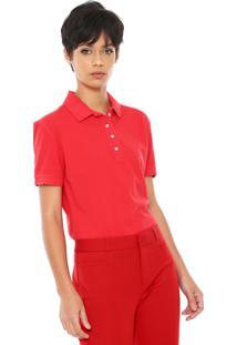 Camisa Pólo Carmim Manga Curta feminina  34fb32ba7fbc3