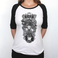 13cabf3cea El Cabriton. Sublevação - Camiseta Raglan Manga ¾ Feminina