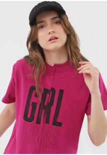 Camiseta Colcci Grl Pwr Rosa - Kanui