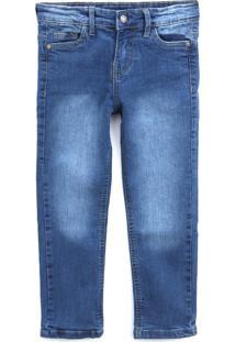 Calça Jeans Tip Top Infantil Estonada Azul