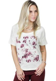 Camiseta It Shop Floral Off White
