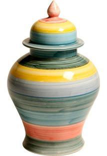Vaso Decorativo De Porcelana Colorido Nadine