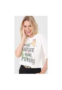 Camiseta Colcci Nature Off-White