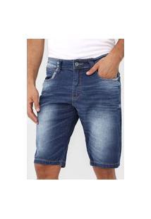 Bermuda Jeans Rock&Soda Reta Indigo Azul