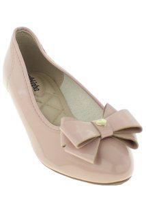Sapato Infantil Molekinha Verniz Premium Feminina - Feminino-Nude