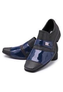 Sapato Social Masculino Mr Shoes Azul