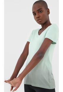 Camiseta Alto Giro Degrade Verde - Verde - Feminino - Dafiti