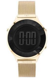 Relógio Feminino Technos Digital Bj3851Ad/4P - Feminino-Dourado