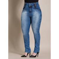 3c8e7070f Calça Jeans Cintura Alta Quintess Plus Size