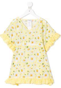 Monnalisa Blusa Floral - Amarelo