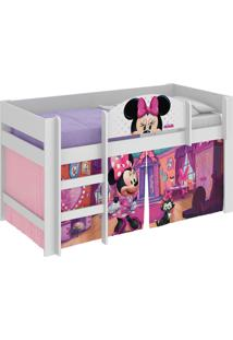 Cama Minnie Disney Play Branco Pura Magia