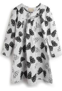Vestido Milon Laços Branco/Preto