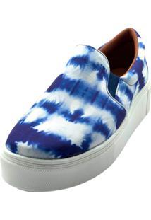 Slipper Tie Dye Colorido Dani K Azul