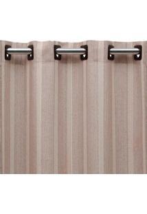 Cortina De Ilhós Vaticano 300X260 Nude E Cru Beca Decor