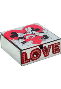 Porta Joias Love Disney® - Vermelho & Branco - 6,5X1Mabruk