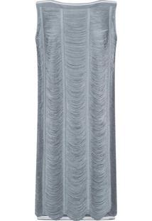 Vestido Reto Com Franjas Mescla - Lez A Lez