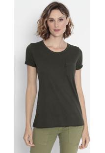 Camiseta Com Bolso - Verde Militarcavalera