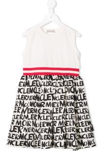 Moncler Kids Vestido Com Logo - Neutro