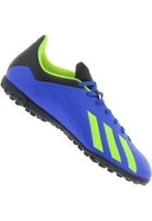 7d06b09f7ccd7 Chuteira Society Adidas X Tango 18.4 Tf - Adulto - Azul Verde Cla