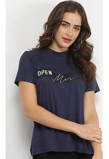 Camiseta Forum Linho Open Mind Feminina - Feminino-Azul Claro
