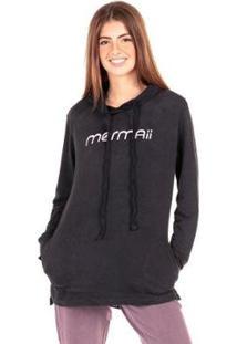 Casaco De Moletom Feminino Cangurú Hood Fleece Signature Mormaii - Feminino-Preto