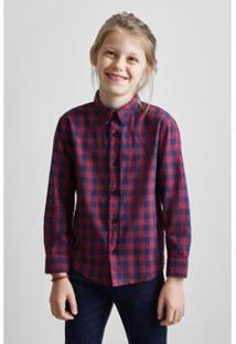 Camisa Infantil Barcelona Reserva Mini Masculina - Masculino-Bordô