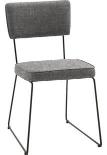 Cadeira Roma T1071-Daf Mobiliário - Cinza