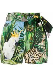 Dolce & Gabbana Short Com Estampa - Verde